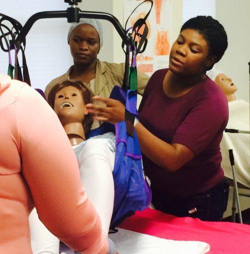 Home Health Aide Training Program using mannequin demonstration