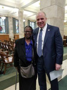 woman with senate president